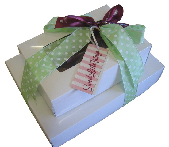 White_glossy_wrapped_box